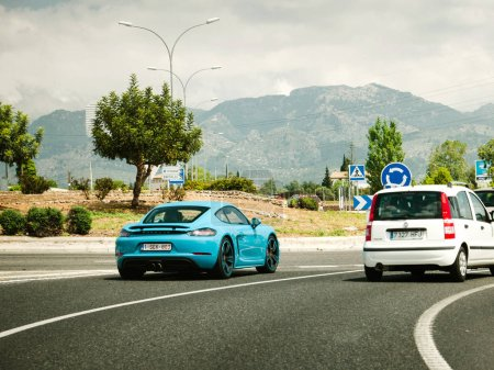 HIghway Porsche car driving fast