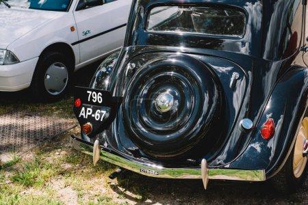 Beautiful luxury vintage car rear