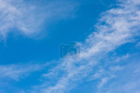 Blue sky view from below