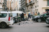 French street car accident