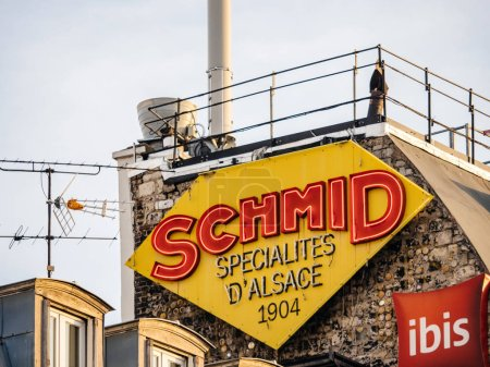 chmid Specialites dAlsace neon sign Paris building