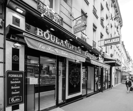 Bakery in Paris street view perspective