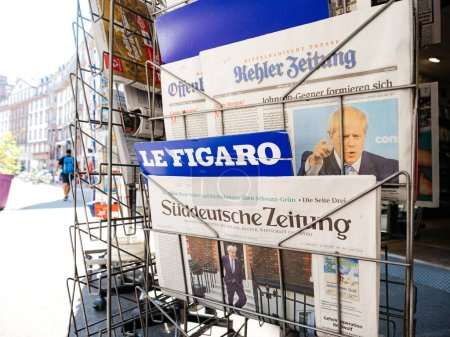 Photo for Paris, France - Jul 24, 2019: Boris Johnson appears on front page of the German Sueddeutsche Zeitung newspaper after been elected new Conservative leader becoming Prime Minister of the United Kingdom - Royalty Free Image