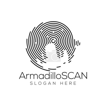 Armadillo Scan Technology Logo vector Element. Ani...