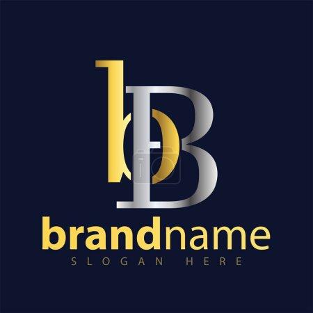 Illustration pour BB Lettre initiale logo icône vecteur - image libre de droit
