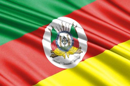 beautiful colorful waving flag of Rio Grande do Sul state, Brazil