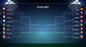 Football cup Playoff tournament bracket