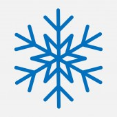 Vector illustration of snowflake template for winter holiday cards
