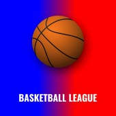 Bascetball banner with ball Sports illustration
