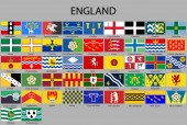 all Flags counties of England Vector illustraion