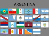 all Flags of provinces of Argentina Vector illustraion