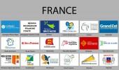 all Flags regions of France Vector illustraion