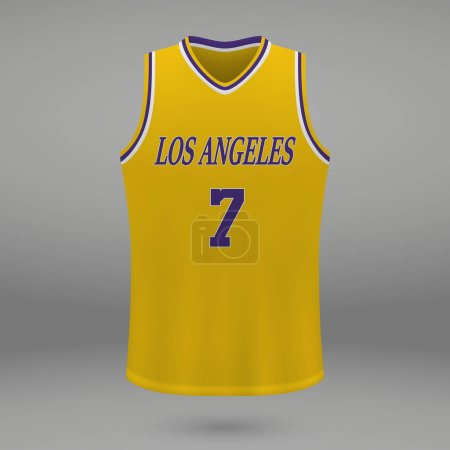 Realistic sport shirt Los Angeles