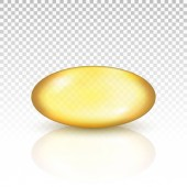 Oil gold pill capsule