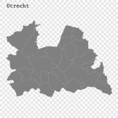 High Quality map is a province of Netherlands