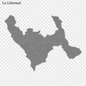 High Quality map is a province of Peru