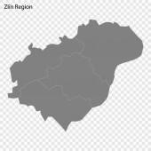 High quality map is a region of Czech republic