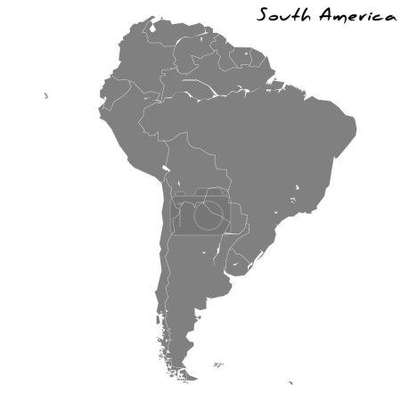 hochwertige Karte von Südamerika