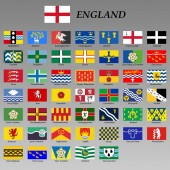 all flags of the England regions