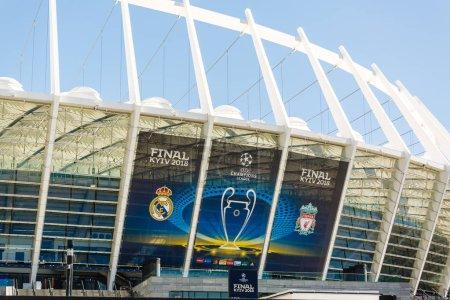 Kyiv, Ukraine. May, 26, 2018. Stadium Olymiysky - preparations before final of UEFA Champions League