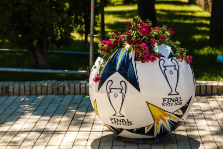 KYIV, UKRAINE - MAY 26 2018: Symbols of the Final of the UEFA Champions League in Kiev.