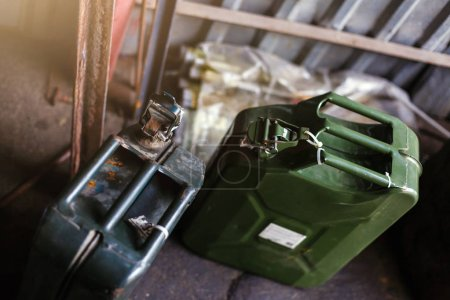 Old fashioned military style jerrycan