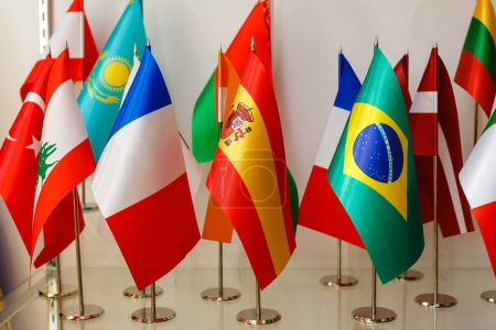 Foto de Banderas nacionales del mundo, cerca de vista - Imagen libre de derechos