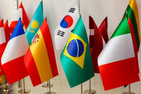 Grouping of various flags of world