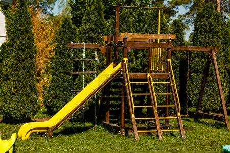 Children's playground in green park
