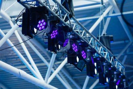 Stage blue lights at concert