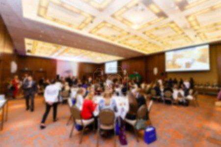 Abstraits gens floues dans le concept d'affaires événement conférence de presse