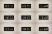 Times vintage digital clocks set