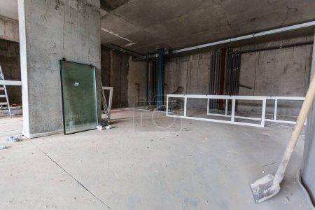 Construction office repair windows