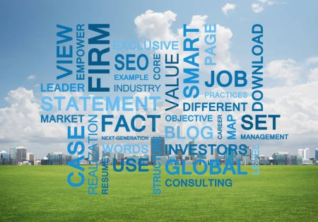 Business conceptual words as keys to success and company growth