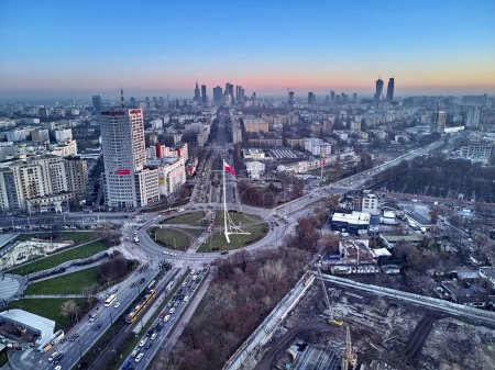 Beautiful panoramic aerial drone view to