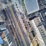 Beautiful panoramic aerial drone view to panorama ...