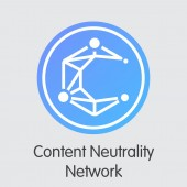 Content Neutrality Network - Digital Coin Vector Icon