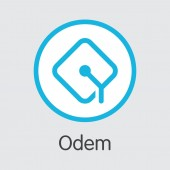 Odem - Digital Coin Vector Icon of Cryptographic Currency