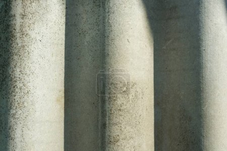 Photo for Grey textured concrete cement wall closeup background, - Royalty Free Image