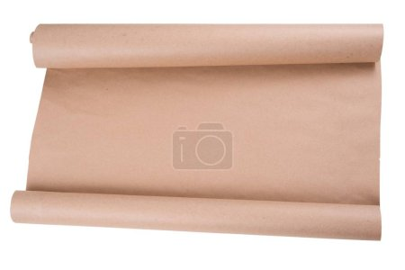 Photo for Isolated kraft paper on roll. Background, texture, copy space - Royalty Free Image