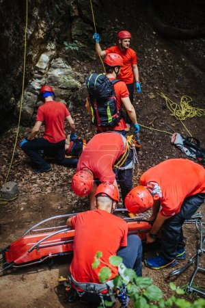 Search and rescue team at work