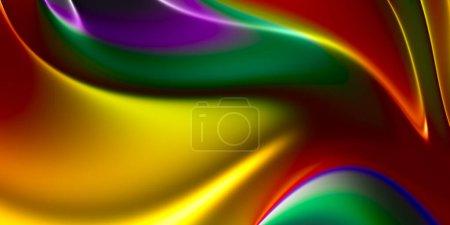 Foto de Colorido fondo de pantalla simple belleza con efecto fluido, gradiente de malla de colores, ilustración 3D, representación 3D - Imagen libre de derechos