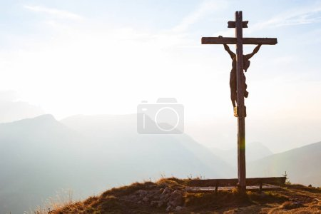 Photo for Jesus Christ crucifix in Alps - Royalty Free Image