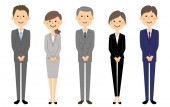 Business teamPeople in suit/People in suit It is an illustration of a business team