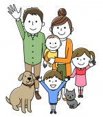 Good family/It is an illustration of a good family