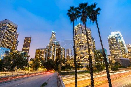 Los Angeles Downtown Sunset, LA California, USA