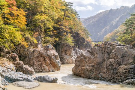 Ryuyo Gorge canyon National Park and recreation area at Nikko Tochigi, Japan
