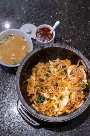 Bibimbap, Korean rice bowl cuisine