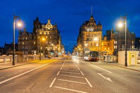 Photo for Edinburgh Cityscape with sunset dusk, Edinburgh, Scotland UK - Royalty Free Image