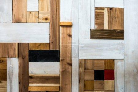 Foto de Paneles de madera estilo japonés vintage y grunge textura y fondo - Imagen libre de derechos